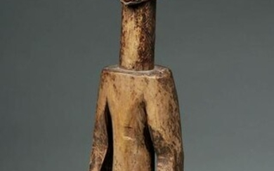 Early 20th C. African Jukun Wooden Ancestor Figure