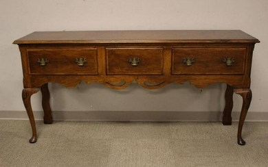 English Queen Anne Mahogany Sideboard