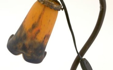 FRENCH ART DECO TABLE LAMP MULLER GLASS