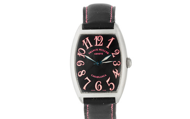 Franck Muller. A Limited Edition stainless steel automatic tonneau form wristwatch