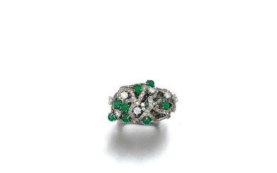 GEM SET AND DIAMOND RING, CINDY CHAO