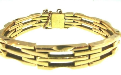 GROOVY Swiss Made 14k Rose Gold Bracelet Vintage