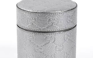 GUCCI 'CAPRI GUCCISSIMA' CANDLE 2015 ca Silver embossed leather box...
