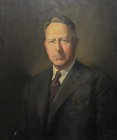George Nelson (American, 1887 - 1978), portrait of