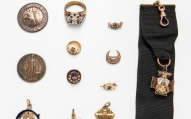 Group of Fraternal Jewelry