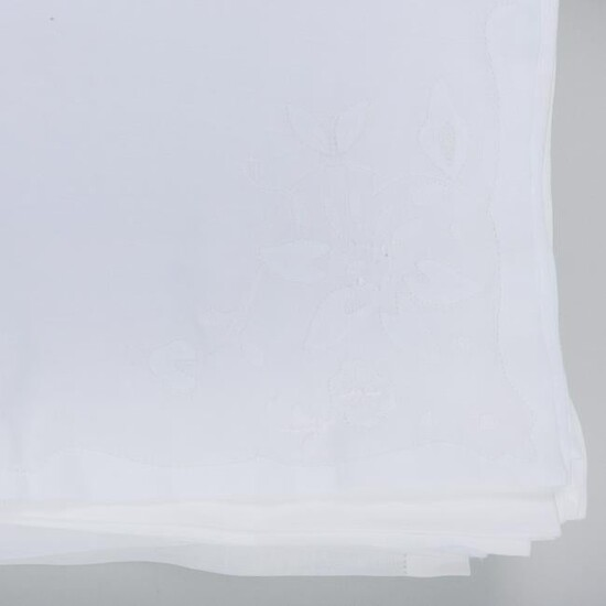 Group of Three Tablecloths and Two Sets of Napkins
