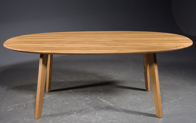 INwood, laminated natural-oiled solid oak dining table