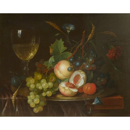 JAN DAVIDSZ DE HEEM, UTRECHT, 1606 - 1684, ANTWERP, OIL ON P...