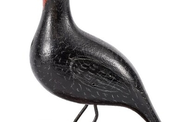 Joseph Moyer carved and painted bird