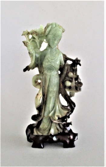 Large Chinese Jade Carving of a Lady FR3SH