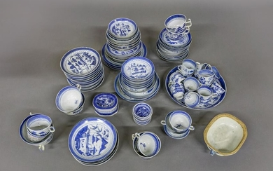 Large Lot of Canton Tableware