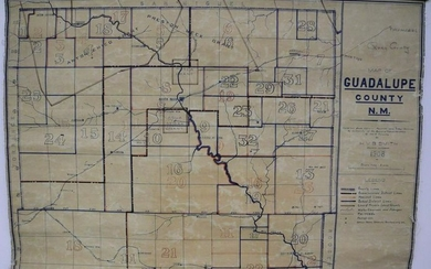Map of Guadalupe County N. M.
