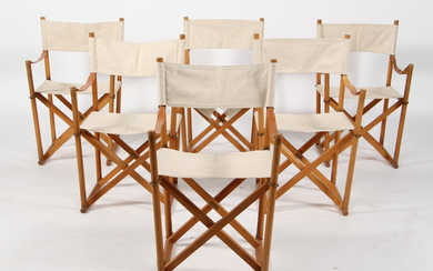 Mogens Koch. Six director chairs with stand (7)