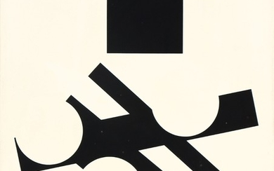 Mogens Lohmann: Composition, L. VIII, 1961. Signed and dated on the reverse. Oil on canvas. 73×61 cm.