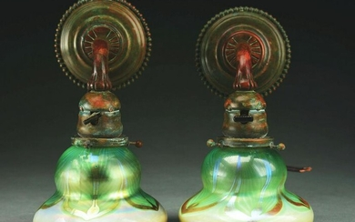 PAIR OF TIFFANY STUDIOS SCONCES.