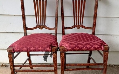 Pair 19th C. Fancy Chairs