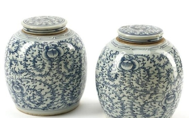 Pair of 19th Century Chinese Blue and White Porcelain