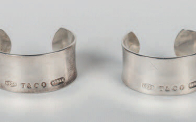 Pair of Tiffany bracelets made in silver.