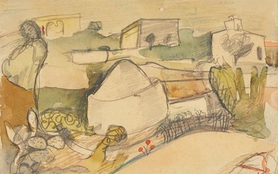 Peter Lanyon, British 1918-1964- Landscape with Houses,...