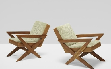 Pierre Jeanneret, Rare lounge chairs from the M.L.A.