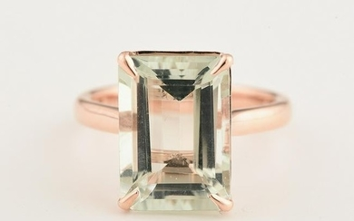 Quartz, 14k Rose Gold Ring.