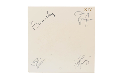 Queen: An autographed album cover, The Complete Works, LP XIV Complete Vision,