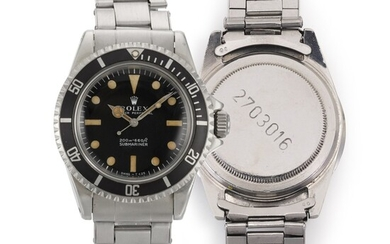 """ROLEX   SUBMARINER """"SOUTH AFRICAN ARMY"""", REF 5513, MILITARY STAINLESS STEEL WRISTWATCH WITH BRACELET, CIRCA 1970"""