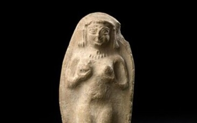 Relief plaque decorated with a Goddess of Fertility holding her breasts