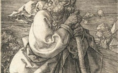 Saint Christopher with his head turned back