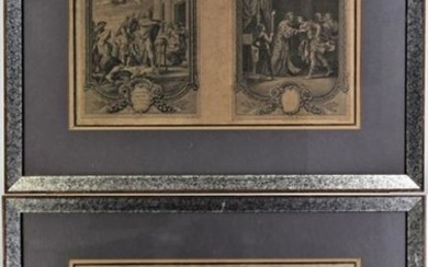 Set of (2) 18th C. French Engravings by Cochin