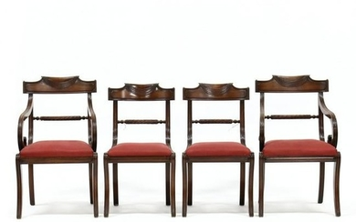 Set of Four Classical Style Mahogany Dining Chairs