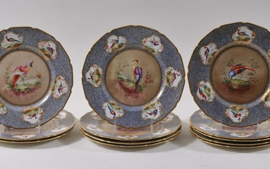 Set of twelve Royal Doulton fine quality hand painted