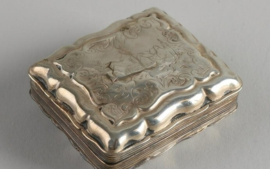 Silver peppermint box, 833/000, rectangular outlined