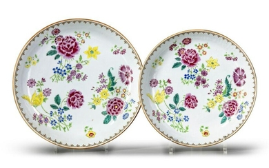 TWO CHINESE FAMILLE ROSE DISHES, CHINA, 18TH CENTURY