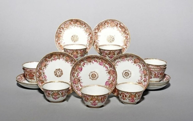 Ten small Chinese porcelain teabowls and saucers for...
