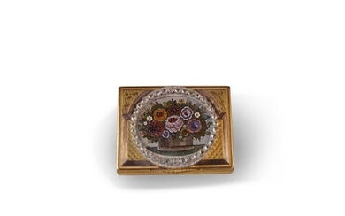 Diamond Set Micro Mosaic and Gold Snuff Box - The mosaic of ...