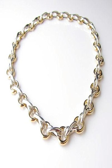 Tiffany & Co. Paloma Picasso 18K/Sterling Necklace. An 18K...