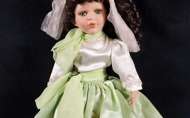 Vintage Wondertreats Porcelain Doll With Curly Hair