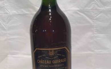 1 magnum château GUIRAUD 1975 SAUTERNES, label and perfect level.
