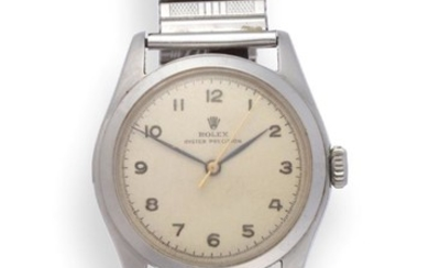 A Stainless Steel Centre Seconds Wristwatch, signed Rolex, Oyster Precision,...