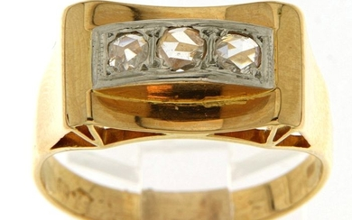 18 kt. White gold, Yellow gold - Ring - 0.30 ct Diamond