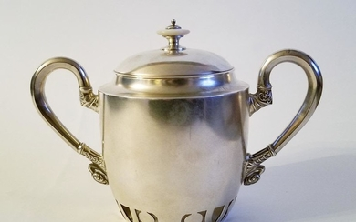 19C Russian Silver Sugar Bowl