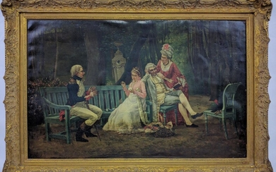 19th Century Continental School Oil on Canvas Painting