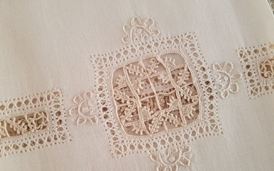 3 + 3 linen towels embroidery needle stitch by hand - Linen - After 2000