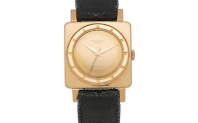 Universal Genève. An 18K rose gold automatic square wristwatch
