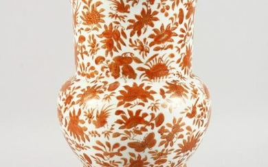A CHINESE PORCELAIN BALUSTER SHAPED VASE, painted with