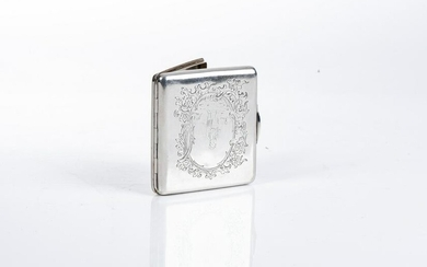 A RUSSIAN SILVER CIGARETTE CASE, MOSCOW, 19TH CENTURY