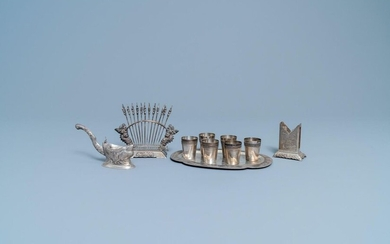 A group of silver wares, Vietnam, early 20th C.