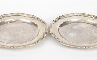 A pair of Italian silver dish - Rome, 1741-1777, Vincenzo...