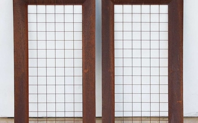 A pair of garden trellis in the form of picture frames